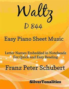 Waltz D 844 Easy Piano Sheet Music