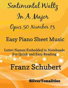 Sentimental Waltz in A Major Opus 50 Number 13 Easy Piano Sheet Music