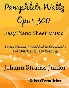 Pamphlet's Waltz Opus 300 Easy Piano Sheet Music