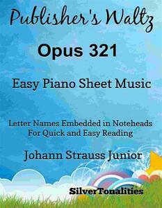 Publisher's Waltz Opus 321 Easy Piano Sheet Music