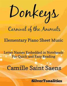 Donkeys Carnival of the Animals Elementary Piano Sheet Music