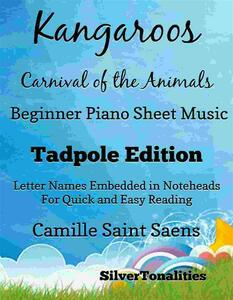 Kangaroos Carnival of the Animals Beginner Piano Sheet Music Tadpole Edition