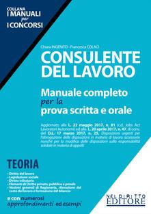 Consulente del lavoro. Manuale completo per la prova scritta e orale.pdf