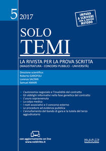 Libro Solo temi. La rivista per la prova scritta (magistratura-concorsi pubblici-università) (2017). Vol. 5