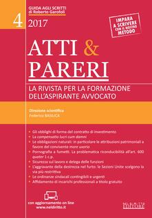 Ipabsantonioabatetrino.it Atti & pareri. La rivista per la formazione dell'aspirante avvocato (2017). Vol. 4 Image