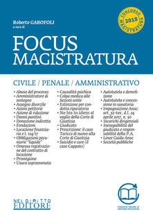 Lpgcsostenible.es Focus magistratura. Concorso magistratura: 2017-2018. Civile, penale, amministrativo. Con Contenuto digitale per download e accesso on line Image