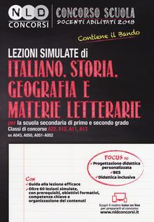 Daddyswing.es Concorso scuola docenti abilitati 2018. Lezioni simulate di italiano, storia, geografia e materie letterarie per la scuola secondaria di primo e secondo grado. Classi di concorso A22-A12-A11-A13 (ex A043-A050-A051-A052) Image
