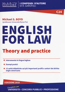 Squillogame.it English for law. Theory and practice Image