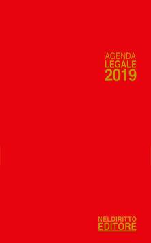 Listadelpopolo.it Agenda legale 2019 rosso. Ediz. minore Image