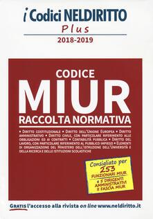 Mercatinidinataletorino.it Codice MIUR. Raccolta normativa 2018-2019 Image