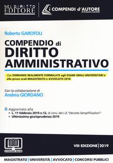 Grandtoureventi.it Compendio di diritto amministrativo. Con espansione online Image
