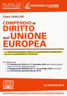 Grandtoureventi.it Compendio di diritto dell'Unione Europea. Con espansione online Image