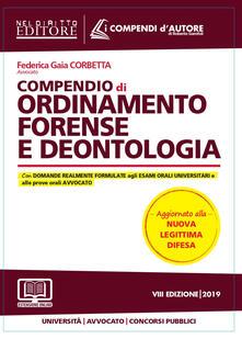 Fondazionesergioperlamusica.it Compendio di ordinamento forense e deontologia Image