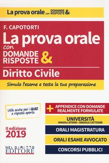 Milanospringparade.it Diritto civile. La prova orale con domande & risposte Image