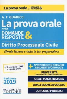 Voluntariadobaleares2014.es Diritto processuale civile. La prova orale con domande & risposte Image