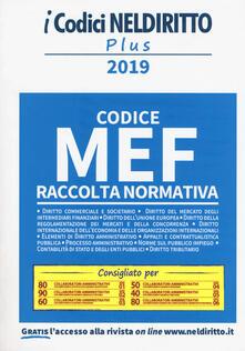 Codice MEF. Raccolta normativa 2019.pdf