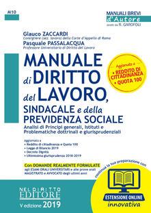 Librisulladiversita.it Manuale di diritto del lavoro, sindacale e della previdenza sociale. Con espansione online Image