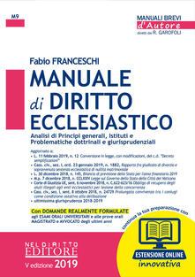 Premioquesti.it Manuale di diritto ecclesiastico. Con espansione online Image