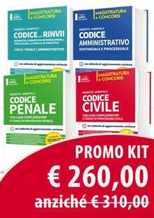 Vitalitart.it Kit 4 Codici. Codice civile-Codice penale-Codice amministrativo-Codice dei rinvii Image