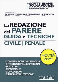 Ristorantezintonio.it La redazione del parere. Guida e tecniche. Civile-Penale Image