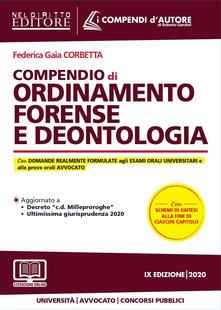 Steamcon.it Compendio di ordinamento forense e deontologia. Con aggiornamento online Image