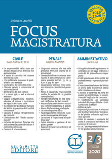 Teamforchildrenvicenza.it Focus magistratura. Concorso magistratura 2020: Civile, penale, amministrativo. Vol. 2 Image