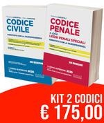 Kit Codici Esame Avvocato 2020: Codice civile-Codice penale annotati con la giurisprudenza