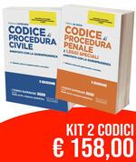Kit Codici Esame Avvocato 2020: Codice civile-Codice di procedura penale e leggi speciali. Annotato con la giurisprudenza