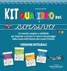 Radiospeed.it Kit Qualibro del corsivo. Un metodo semplice e infallibile per imparare a scrivere in corsivo nel passaggio dalla scuola dell'infanzia alla scuola primaria Image