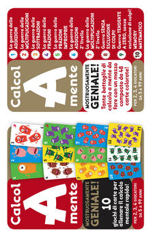 Antondemarirreguera.es Calcol-A-mente. Mostruosamente geniale! 10 giochi di carte per allenare il calcolo mentale rapido! Ediz. a colori Image