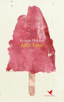Idiot verse - Keaton Henson - copertina