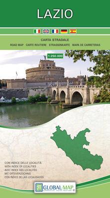 Equilibrifestival.it Lazio. Carta stradale della regione 1:250.000 (cm 96x86) Image