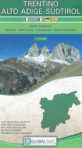 Trentino Alto Adige. Carta stradale della regione 1:250.000 (carta in tyvek cm 96x67)