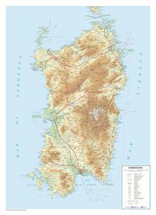 Antondemarirreguera.es Sardegna. Scala 1:350.000 (carta in rilievo cm 65,6x90,5) Image