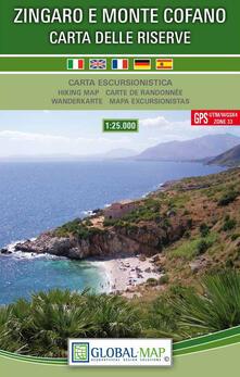 Ilmeglio-delweb.it Zingaro e Monte Cofano, carta delle riserve. Carta escursionistica 1:25.000 (piegata, f.to 67 x 97 cm) Image