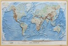 Voluntariadobaleares2014.es The world. Scala 1:40.000.000 (carta in rilievo cm 97x64) Image