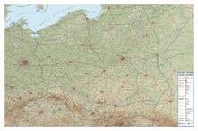 Antondemarirreguera.es Polonia 1:800.000 (carta in rilievo con cornice cm 129 x 86 cm) Image