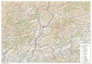 Cartina Stradale Trentino.Trentino Alto Adige Sudtirol Carta Stradale Della Regione 1 250 000 Carta Murale Stesa Cm 96 X 67 Cm Libro Global Map Ibs