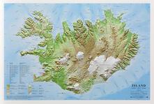 Steamcon.it Islanda 1:1.000.000 (carta in rilievo internazionale con cornice) Image