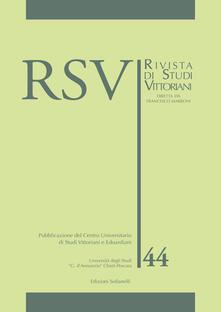 Ristorantezintonio.it RSV. Rivista di studi vittoriani. Vol. 44 Image
