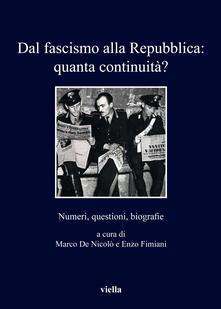 Antondemarirreguera.es Dal fascismo alla Repubblica: quanta continuità? Numeri, questioni, biografie Image