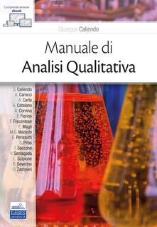Ristorantezintonio.it Manuale di analisi qualitativa. Con e-book Image