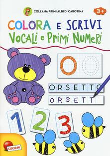 Vitalitart.it Vocali e primi numeri. Colora e scrivi. Primi albi di Carotina Image