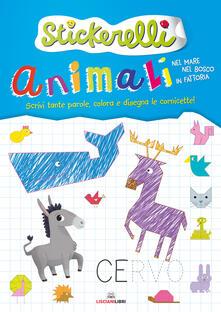 Promoartpalermo.it Animali nel mare, nel bosco e in fattoria. Stickerelli. Con adesivi. Ediz. a colori Image