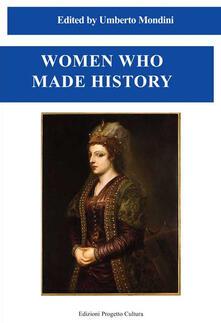 Women who made history - copertina
