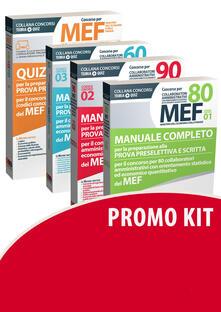 Winniearcher.com Concorso per 60-80-90 collaboratori MEF. Manuale completo per la preparazione alla prova preselettiva e scritta per il concorso (codici concorso 01, 02, 03) del MEF-Quiz Image