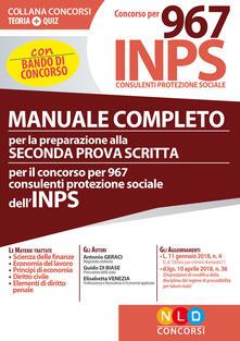 Osteriacasadimare.it Manuale completo per la preparazione alla seconda prova scritta per il concorso per 967 consulenti protezione sociale dell'INPS Image