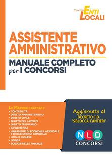 Voluntariadobaleares2014.es Assistente amministrativo. Manuale completo per i concorsi Image