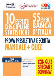 Criticalwinenotav.it 10 esperti discipline statistiche. 55 esperti Banca d'Italia. Prova preselettiva e scritta. Manuale + quiz. Con software di simulazione Image