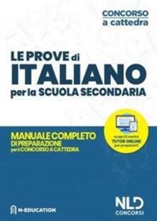 Librisulladiversita.it Italiano nella scuola secondaria. Manuale di preparazione alle prove scritte e orali. Concorso a cattedra 2020 Image